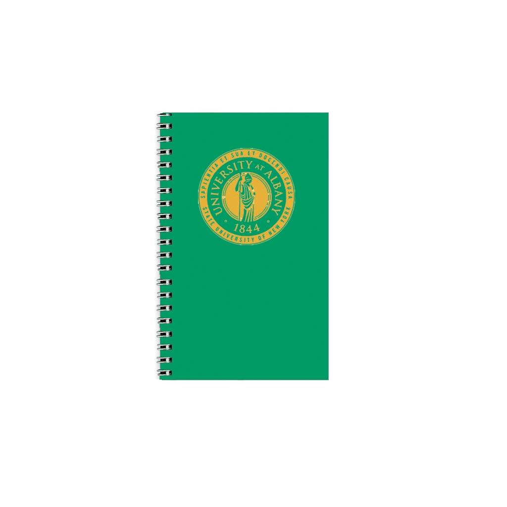 Imprinted Academic Weekly Planner with Green Vinyl Cover 5 x 8 Inches