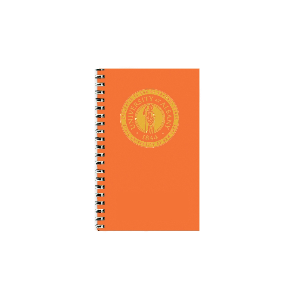 Imprinted Academic Weekly Planner with Orange Vinyl Cover 5 x 8 Inches