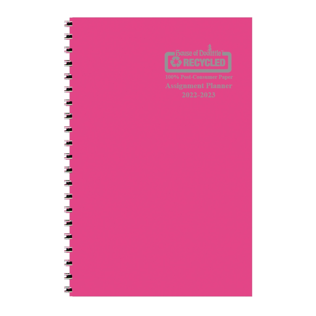 Weekly Academic Assignment Book Planner Dark Pink 5 x 8 Inches