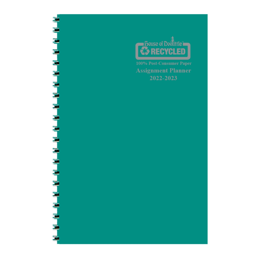 Weekly Academic Assignment Book Planner Bright Green 5 x 8 Inches