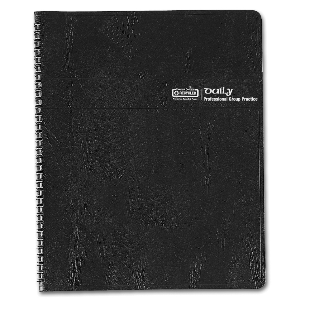 Daily Group Planner 4-Person Black 8-1/2 x  11 Inches