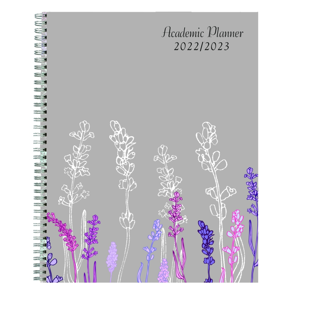 Monthly and Weekly Academic Calendar Planner Wild Flower 7 x 9 Inches