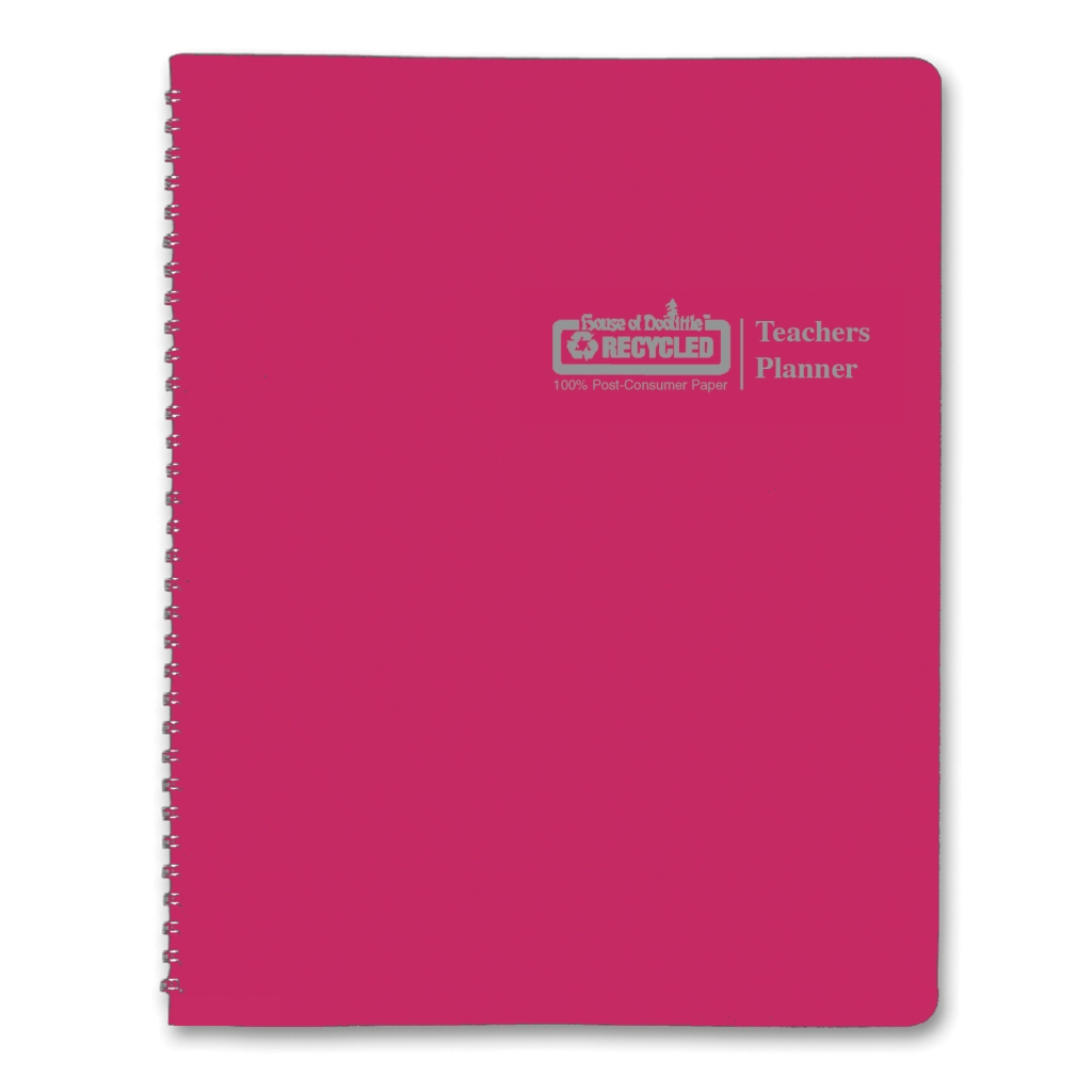 Teachers Planner Dark Pink 8-1/2 x  11 Inch