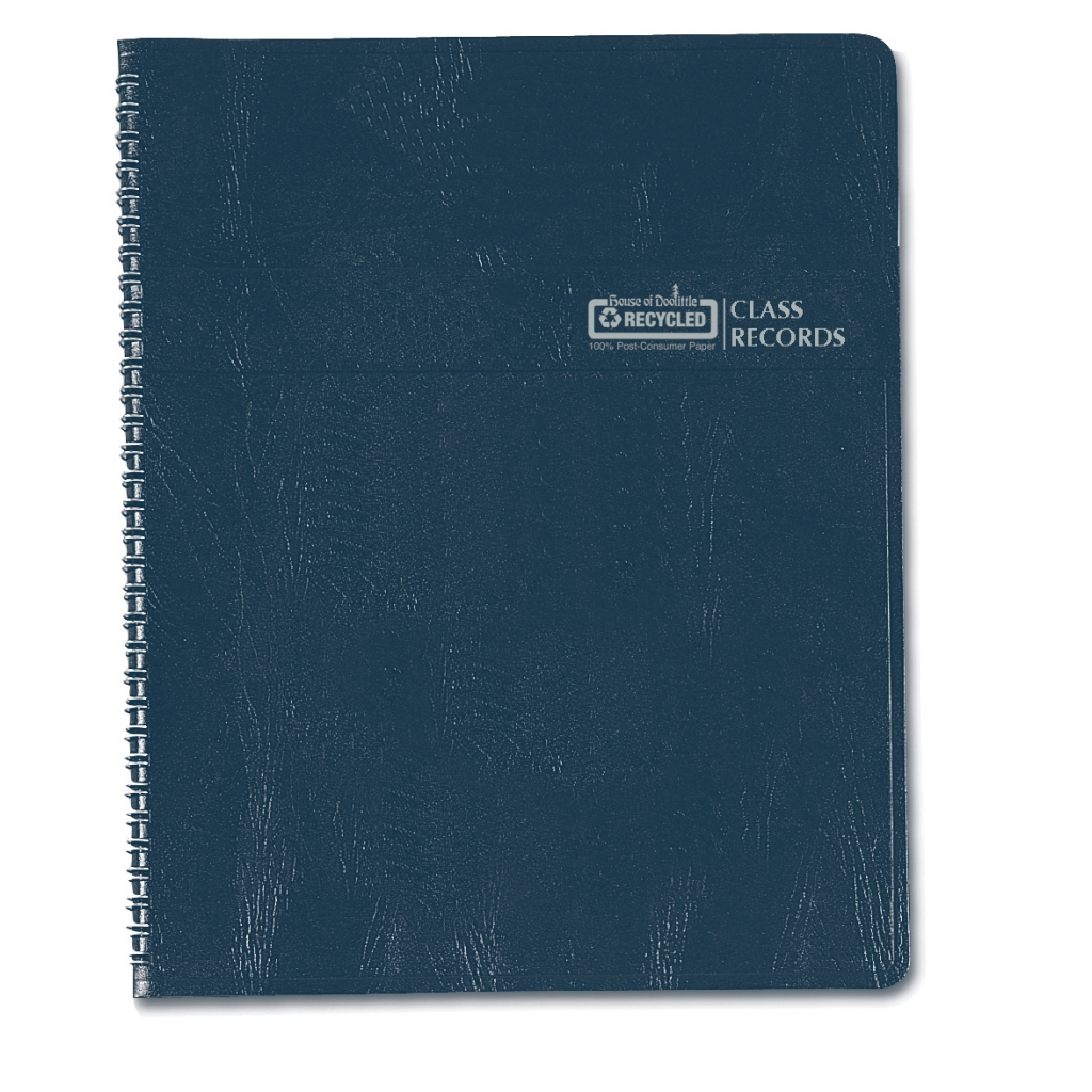 Combination Lesson Planner and Class Record Planner Blue 8-1/2 x  11 Inch