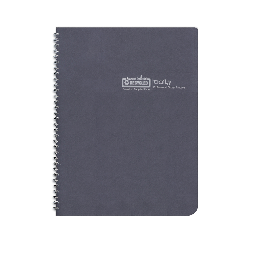 Non-Dated Daily Appointment Planner Black 8-1/2 x  11 Inch