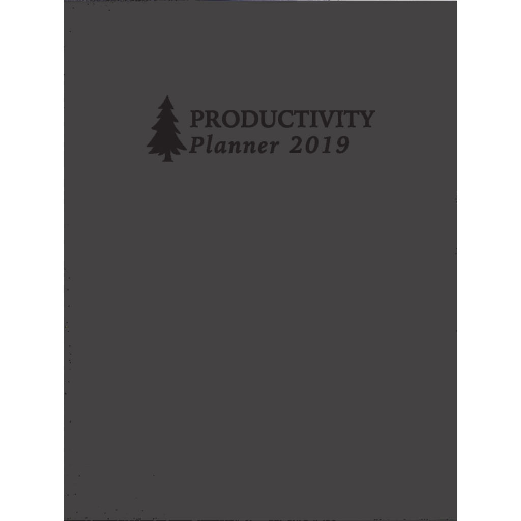 Monthly Non-Dated Productivity and Goal Planner 6.25 X 9.25 Inches