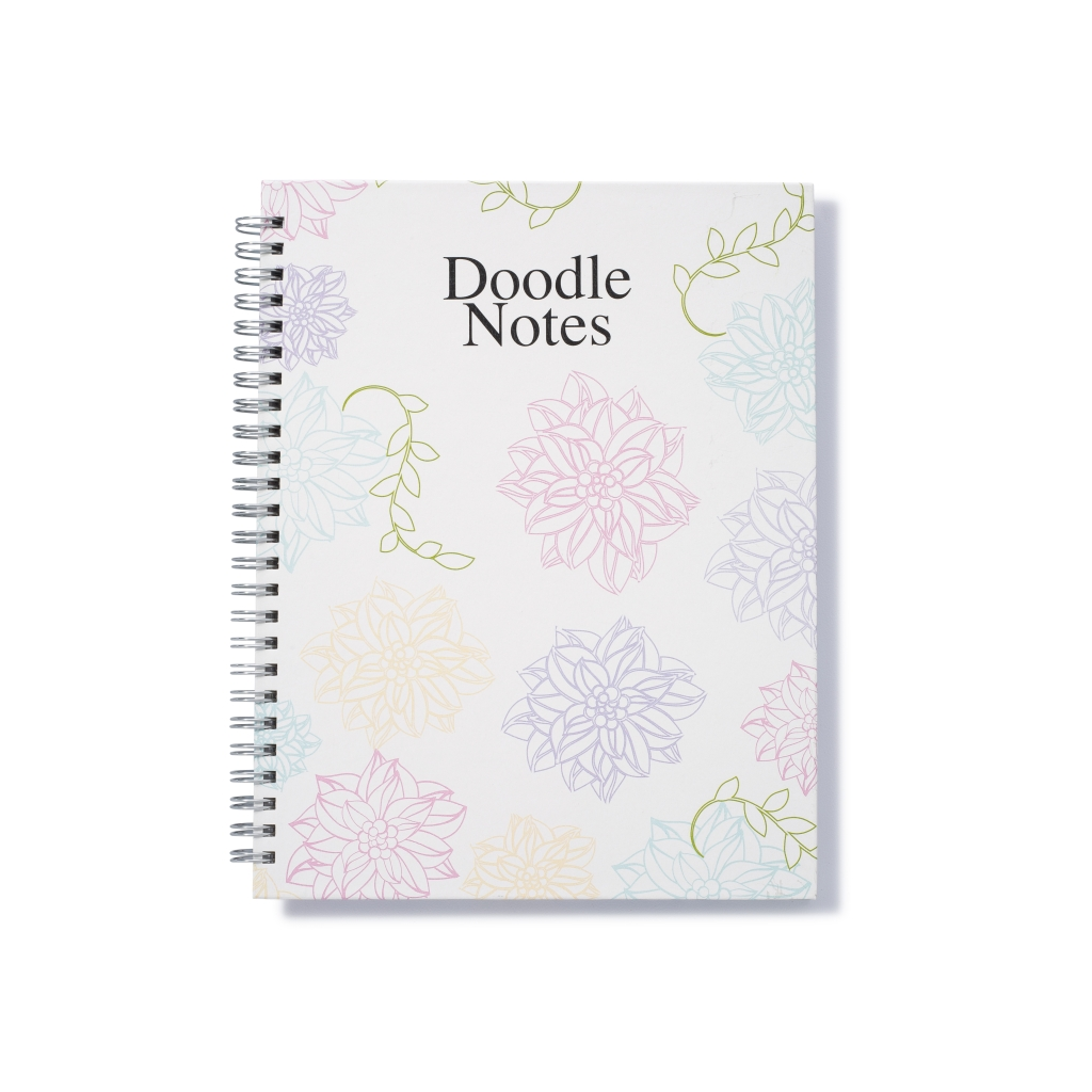 Whimsical Doodle Notebook Coloring Hard Cover 7 x 9 Inches