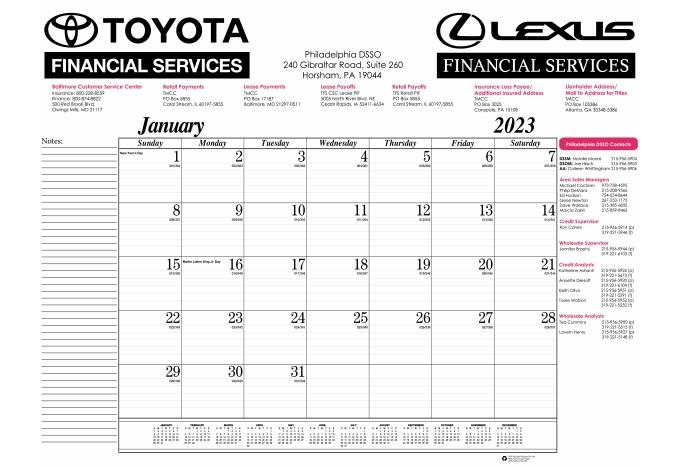 Calendar Head Design : Series desk pad calendar gummed at head or foot